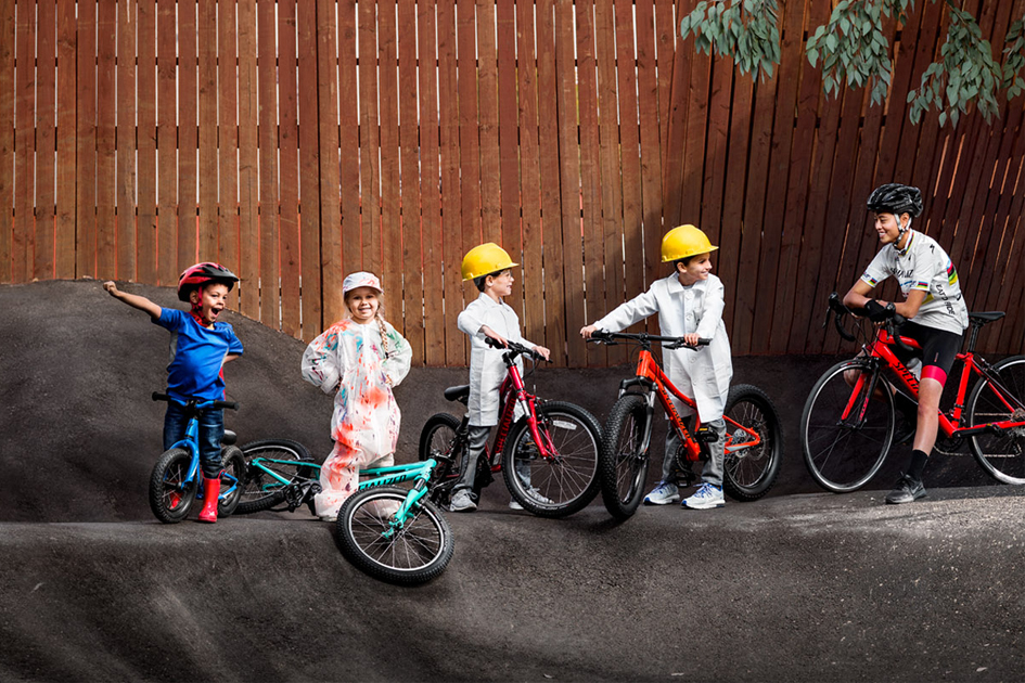 Kids having fun on Specialized kids bikes